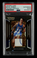 Caitlyn Jenner Signed 2008 Donruss Sports Legends Materials Mirror Blue #23 Bruce Jenner #225/250 (PSA Encapsulated) at PristineAuction.com