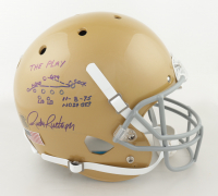 Rudy Ruettiger Signed Notre Dame Fighting Irish Full-Size Helmet with Original Hand-Drawn Play Sketch (Ruettiger Hologram) at PristineAuction.com