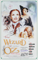 """""""The Wizard of Oz"""" 15.5x24 Movie Poster Signed by (6) with Mickey Carroll, Donna Stewart-Hardaway, Karl Slover & Jerry Maren Inscribed """"Munchkin"""", """"Child Munchkin"""" & """"Lollipop Kid"""" (JSA COA) at PristineAuction.com"""