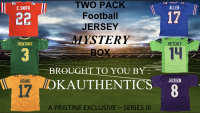 OKAUTHENTICS TWO Pack Football Jersey Mystery Box Series III at PristineAuction.com