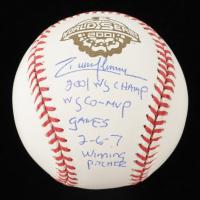 "Randy Johnson Signed 2001 World Series Baseball Inscribed ""2001 WS Champ"", ""WS CO-MVP"", ""Games 2-6-7 Winning Pitcher"" (JSA COA) at PristineAuction.com"