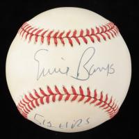 "Ernie Banks Signed ONL Baseball Inscribed ""512 HRs"" (Beckett COA) at PristineAuction.com"