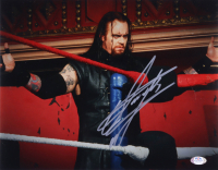 The Undertaker Signed WWE 11x14 Photo (PSA Hologram) at PristineAuction.com