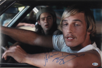 """Matthew McConaughey Signed """"Dazed & Confused"""" 12x18 Photo Inscribed """"JK Livin"""" (Beckett COA) at PristineAuction.com"""