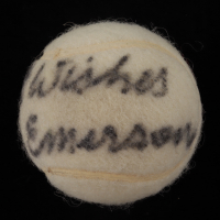 """Roy Emerson Signed Tennis Ball Inscribed """"Best Wishes"""" (Beckett COA) at PristineAuction.com"""
