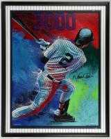 Derek Jeter Signed LE Bill Lopa Yankees 37x46 Framed Print Display (PA LOA & Steiner Hologram) at PristineAuction.com