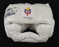 """Manny Pacquiao Signed Boxing Headgear Inscribed """"Pacman"""" (Pacquiao COA) at PristineAuction.com"""