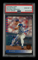 """Nolan Ryan Signed 1993 SP #198 Inscribed """"324 Wins,"""" """"5,714 K's"""" & """"7 No-Hitters"""" (PSA Encapsulated) at PristineAuction.com"""