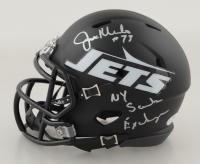 "Joe Klecko Signed Jets Matte Black Speed Mini-Helmet Inscribed ""NY Sack Exchange"" (PSA COA) at PristineAuction.com"