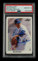 """Nolan Ryan Signed 1990 Leaf #21 Inscribed """"The Ryan Express"""" (PSA Encapsulated) at PristineAuction.com"""
