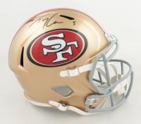Trey Lance Signed 49ers Full-Size Speed Helmet (Beckett Hologram) at PristineAuction.com