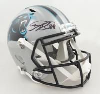 Greg Olsen Signed Panthers Full-Size Speed Helmet (Beckett Hologram) at PristineAuction.com