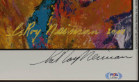 """LeRoy Neiman Signed """"Shaquille O'Neal"""" 26x36 Custom Framed Lithograph Display (PSA COA) at PristineAuction.com"""