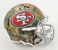 Trey Lance Signed 49ers Full-Size Camo Alternate Speed Helmet (Beckett Hologram) at PristineAuction.com