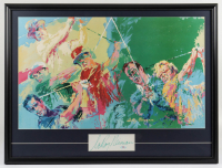 """LeRoy Neiman Signed 27x36 Cut Display with Neiman """"Golf's Greatest"""" Print with Jack Nicklaus, Arnold Palmer, Gary Player & Ben Hogan (PSA COA) (See Description) at PristineAuction.com"""