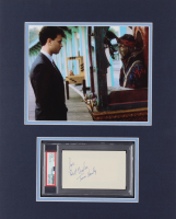 """Tom Hanks Signed 14x18 Custom Matted Index Card Display Inscribed """"Best Wishes"""" (PSA Encapsulated) at PristineAuction.com"""