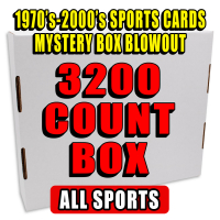 3200 Count Box - 1970's-2000's Sportscards Mystery Box  – ALL SPORTS/MIXED EDITION at PristineAuction.com