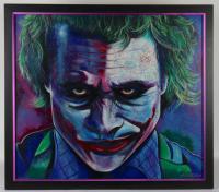 William Lopa Signed LE Joker 39x44 Custom Framed Print Display (PA LOA) (See Description) at PristineAuction.com