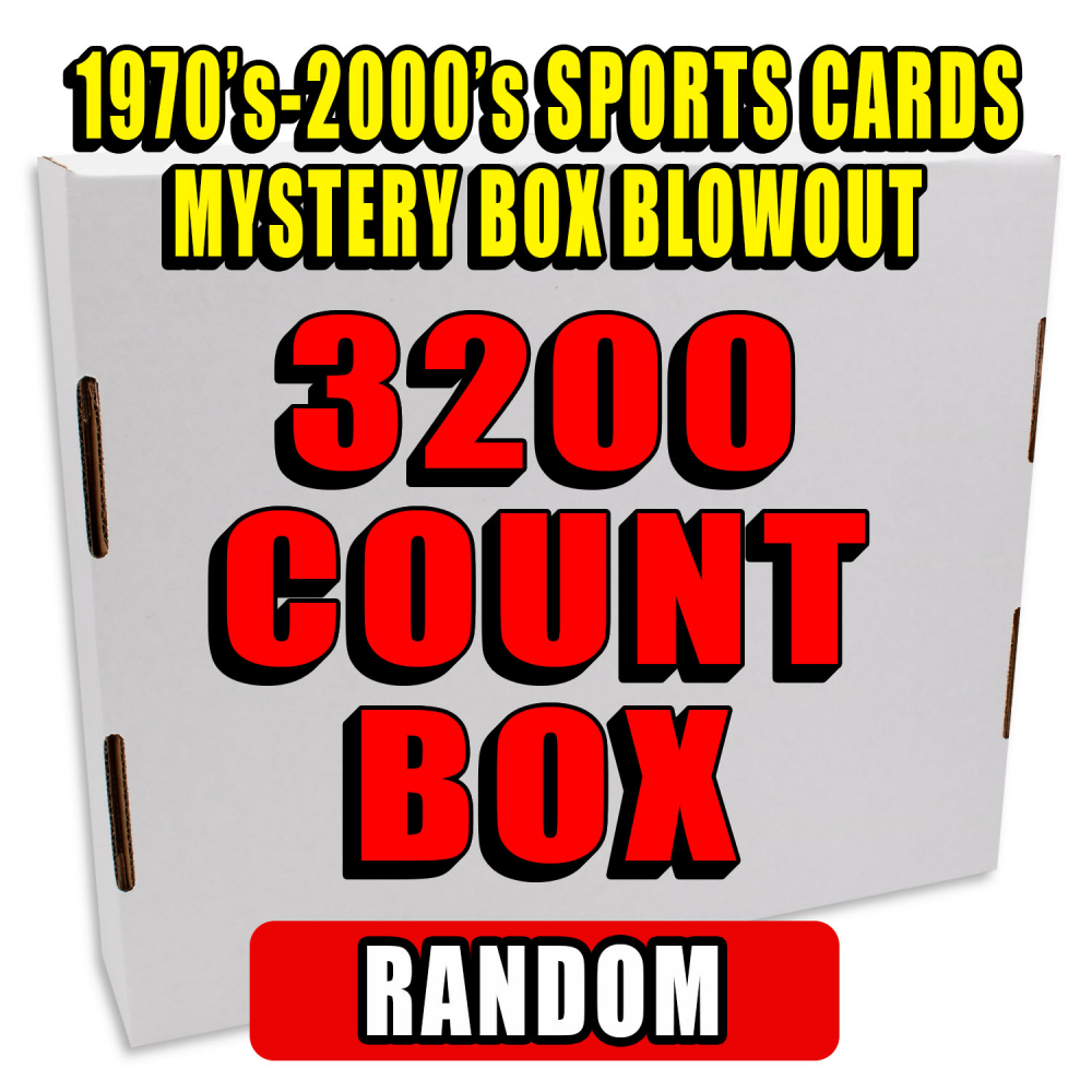 3200 Count Box - 1970's-2000's Sportscards Mystery Box  – MYSTERY PICK EDITION at PristineAuction.com
