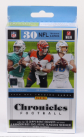 2020 Panini Chronicles Football Trading Card Hanger Box with (30) Cards at PristineAuction.com
