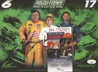 Ryan Newman & Jack Roush Signed NASCAR 8x10 Photo (JSA COA) at PristineAuction.com