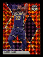 LeBron James 2019-20 Panini Mosaic Mosaic Orange Reactive #8 at PristineAuction.com