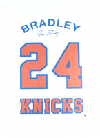 Bill Bradley Signed Knicks 26x36 Retired Number Canvas (Steiner COA) at PristineAuction.com