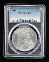 1889 Morgan Silver Dollar (PCGS MS63) at PristineAuction.com