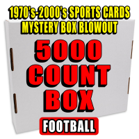 5000 Count Box - 1970's-2000's Sportscards Mystery Box  – FOOTBALL EDITION at PristineAuction.com