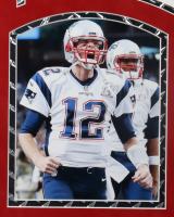 Tom Brady Signed Patriots 34x42.5 Custom Framed Jersey Display with LED Lights (Fanatics Hologram) (See Description) at PristineAuction.com