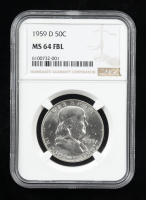 1959-D Franklin Silver Half Dollar (NGC MS64 Full Bell Line) at PristineAuction.com