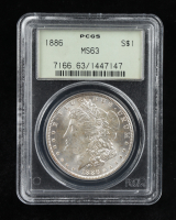 1886 Morgan Silver Dollar (PCGS MS63) OGH at PristineAuction.com