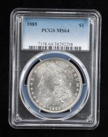 1885 Morgan Silver Dollar (PCGS MS64) at PristineAuction.com