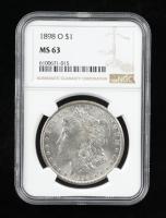 1898-O Morgan Silver Dollar (NGC MS63) at PristineAuction.com