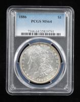 1886 Morgan Silver Dollar (PCGS MS64) at PristineAuction.com