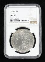 1896 Morgan Silver Dollar (NGC AU58) at PristineAuction.com