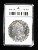 1880-S Morgan Silver Dollar (ANACS MS64) at PristineAuction.com