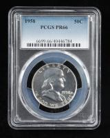 1958 Franklin Silver Half Dollar (PCGS PR66) at PristineAuction.com