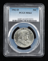 1963-D Franklin Silver Half Dollar (PCGS MS64) at PristineAuction.com