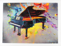 """Jim Warren Signed """"Very Grand Piano"""" 18x24 Artist Embellished AP Limited Edition Giclee on Canvas at PristineAuction.com"""