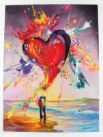 """Jim Warren Signed """"Love is in the Air"""" 30x24 Artist Embellished AP Limited Edition Giclee on Canvas at PristineAuction.com"""