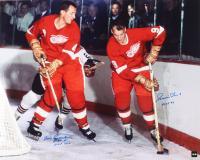 "Gordie Howe & Bill Gadsby Signed Red Wings 16x20 Photo Inscribed ""HOF 1970"" & ""HOF 72"" (COJO COA) at PristineAuction.com"