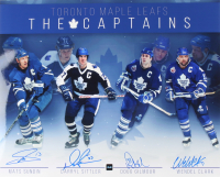 Maple Leafs Captains 16x20 Photo Signed by (4) with Mats Sundin, Darryl Sittler, Doug Gilmour & Wendel Clark (COJO COA) at PristineAuction.com