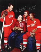 Gordie Howe, Red Kelly & Ted Lindsay Signed Red Wings 16x20 Photo With HOF Inscriptions (COJO COA) at PristineAuction.com