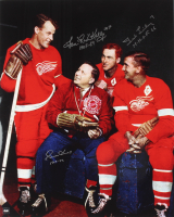 Gordie Howe, Red Kelly & Ted Lindsay Signed Red Wings 16x20 Photo With HOF Insriptions (COJO COA) at PristineAuction.com