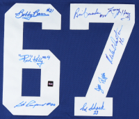 1967 Maple Leafs Stanley Cup Jersey Team-Signed by (8) With Red Kelly, Bob Baun, Bob Pulford, Brian Conacher, Larry Jeffrey (COJO COA) (See Description) at PristineAuction.com