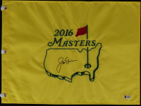 Jack Nicklaus Signed 2016 Masters Golf Pin Flag (Beckett LOA) at PristineAuction.com