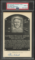 Ray Schalk Signed Hall of Fame Plaque Postcard (PSA Encapsulated) at PristineAuction.com