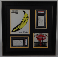 Lou Reed & John Cale Signed The Velvet Underground 23.5x23.5 Custom Framed Cut Display (PSA Encapsulated) at PristineAuction.com
