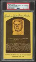 """Wahoo"" Sam Crawford Signed Hall of Fame Plaque Postcard (PSA Encapsulated) at PristineAuction.com"